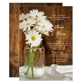 Masonburken och daisyland postar bröllopfrunch 12,7 x 17,8 cm inbjudningskort