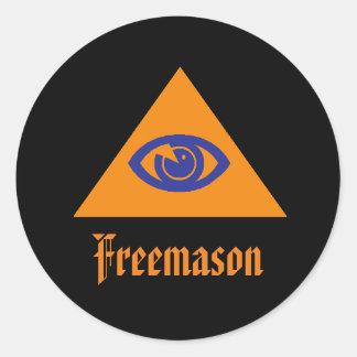 Masonic öga - frimurare runt klistermärke