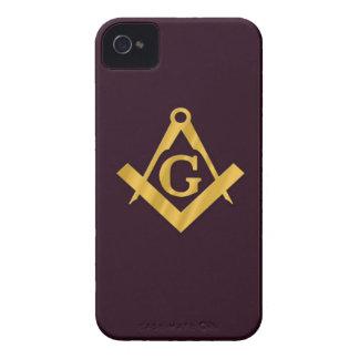 Masonic produkt för Mason på brunt iPhone 4 Skal