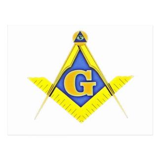Masonic symbol vykort