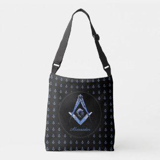 Masonic varar besvärad (blått) axelväska