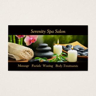 Massagebambuorchiden stenar det möte kortet visitkort