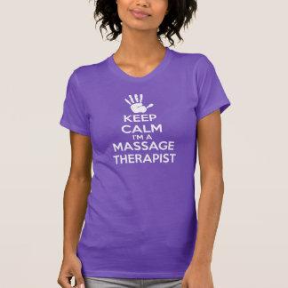 MassageT-tröja: Behållalugn, massageterapeut T Shirt