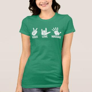 MassageT-tröja: Fred kärlek, massagevit T Shirt