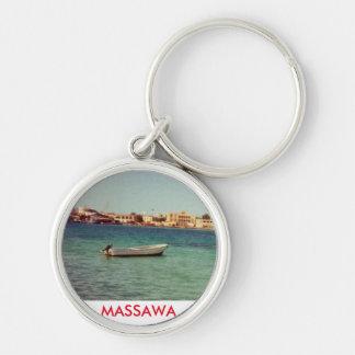 MASSAWA Keychain Rund Silverfärgad Nyckelring