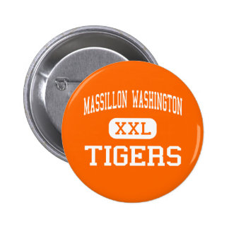 Massillon Washington - tigrar - kick - Massillon Standard Knapp Rund 5.7 Cm