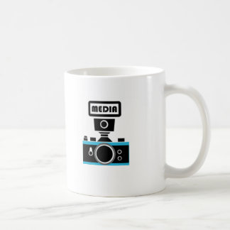 "Massmedia/fotografi ""rop ut "", vit mugg"