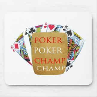 Mästare för poker ART101 - Zazzle PlayingCards Musmatta