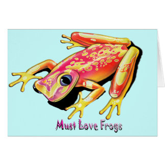 Måste älska grodor hälsningskort