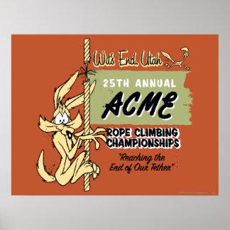 Mästerskap för WileE. Prärievarg Rep klättring Poster