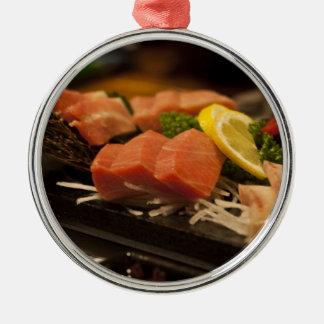 Mat för fisk för party för tonfisk för SushiTime Julgransprydnad Metall