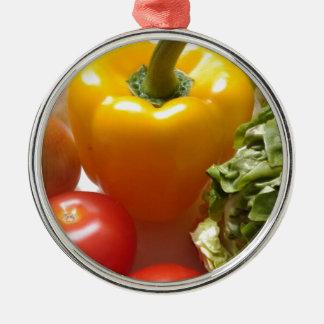 Mat för grönsallat för peppartomatgrönsaker sund julgransprydnad metall