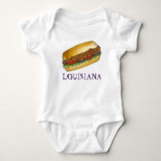 Mat för Louisiana räkaPo'Boy New Orleans smörgås Tee Shirts