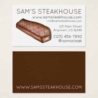 Mat för restaurang för stekhus för New York Visitkort