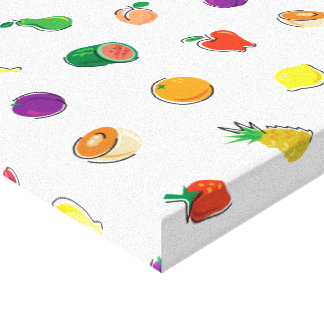 Mat för Thought_Totally Fruity_Pattern Canvastryck