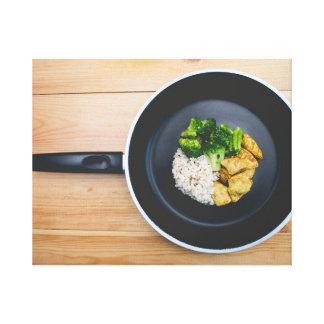 Mat i en panorera canvastryck