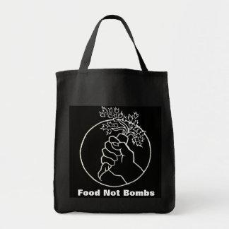 mat inte bombarderar den svart matkassen mat tygkasse