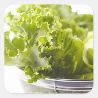 Mat, mat och drink, grönsak, grönsallat, fyrkantigt klistermärke