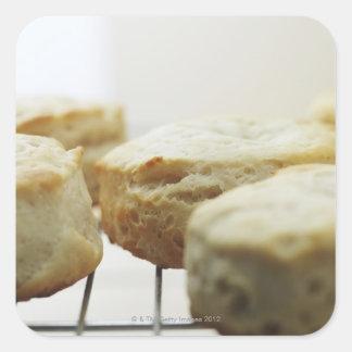 Mat, mat och drink, kexar, smör, bröd, fyrkantigt klistermärke