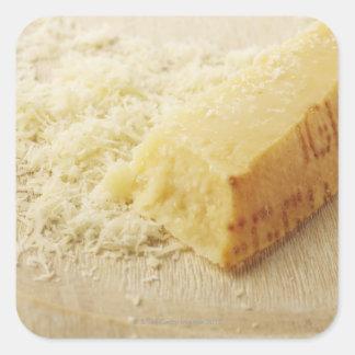 Mat, mat och drink, ost, parmesan, Grated, Fyrkantigt Klistermärke