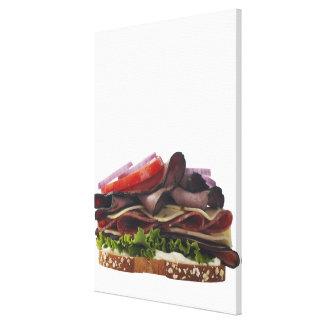 Mat, mat och drink, vete, bröd, Oat, Mayo, Canvastryck