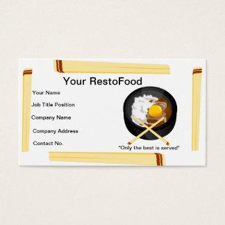 Mat- och restaurangvisitkort visitkort