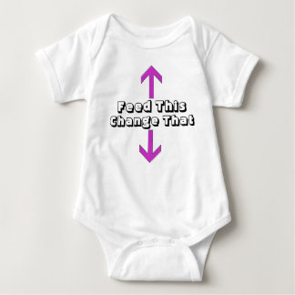 Mata denna ändring den roliga babyranka tee shirts