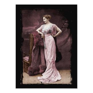 Mata Hari de l'Odeon 14 X 19,5 Cm Inbjudningskort