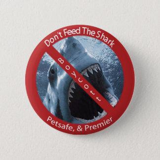 Mata inte hajen standard knapp rund 5.7 cm