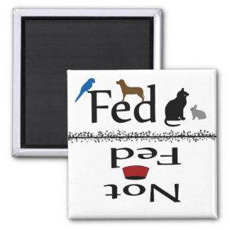 Matade och inte matade djur magnet
