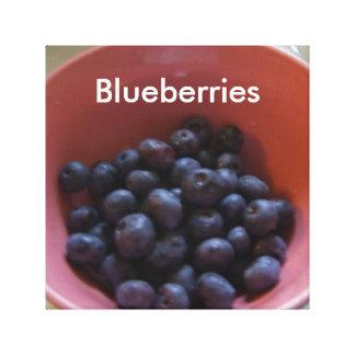 Matar för blåbärkökCricketDiane frukt Canvastryck