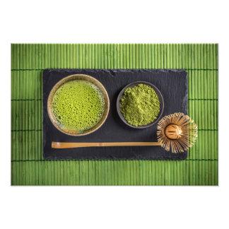 Matcha grön tea fototryck