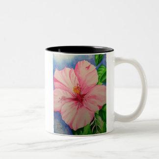 Matcha rosa hibiskus Två-Tonad mugg