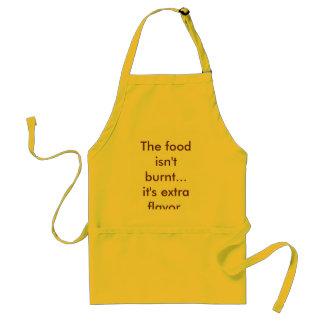 Maten bränns inte… det är extra flavor. förkläde