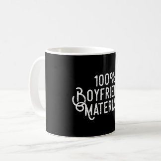 Materiell pojkvän 100% kaffemugg