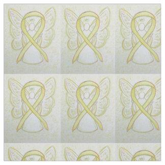 Materiellt gult tyg för medvetenhetbandängel