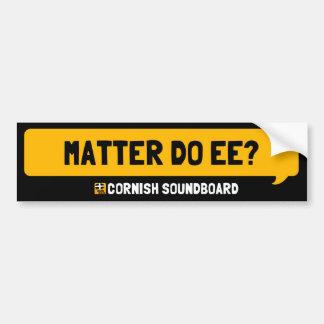 Materien gör Ee? En Cornish Soundboard klistermärk Bildekal