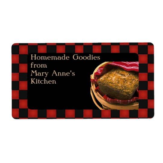 Matgåva från din kökpersonliganpassningsbar fraktsedel