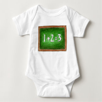 Math 123 skolar svart tavlablackboarden för lärare tee shirt
