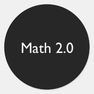 Math 2,0 runt klistermärke