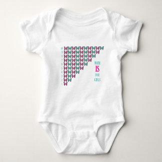 Math är för flickor, mig älskar Math som är T-shirts