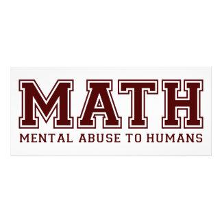 MATH är mentalt missbruk till människor Reklamkort