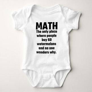 Math det enda stället var folk vattenmelon för köp t-shirt