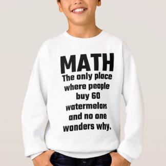Math det enda stället var folk vattenmelon för köp t-shirts