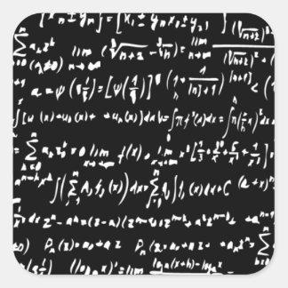 Math Fyrkantigt Klistermärke