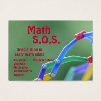 Math handleder visitkort