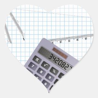 Math Hjärtformat Klistermärke