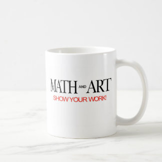 Math- och konst_visar ditt arbete! kaffemugg