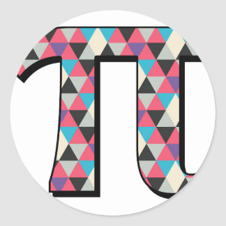 Math Pi med det kalla diamantmönster Runt Klistermärke