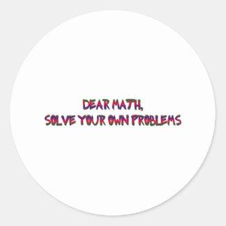math runt klistermärke